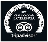 Certificado de excelencia - Hall of Fame 2019 Tripadvisor