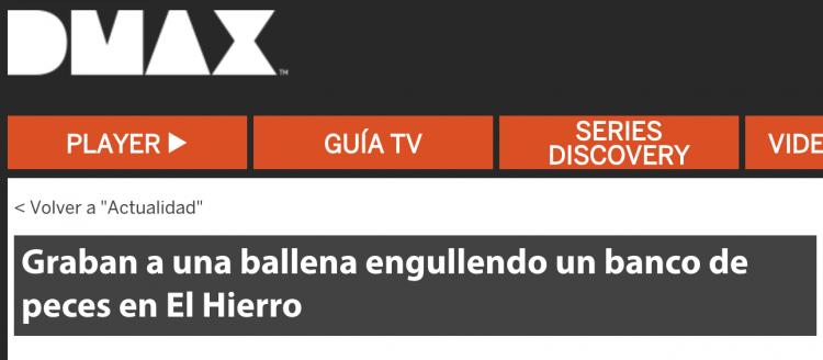 Buceo la Restinga - El Hierro - en los medios (DMAX)