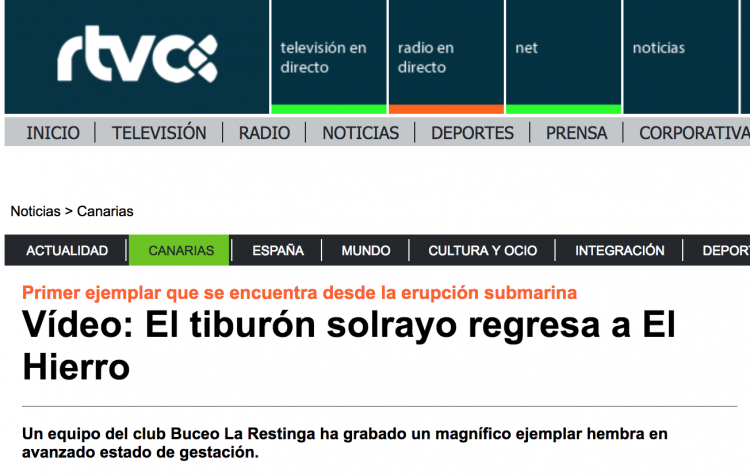 Buceo la Restinga - El Hierro - en los medios (RTVC)